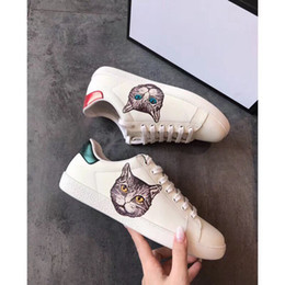 спортивная обувь Скидка Дизайнерская обувь Cat Head 3D печатные Мужчины Женщины Роскошные дизайнерские кроссовки лучшее качество моды на открытом воздухе обувь