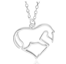 mother son charms Promo Codes - Pony Pendant Necklace Charm Fashion Chain for Mom from Son Daugter, Mothers Day Gifts