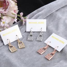 2019 schmuckschlösser Mode Frau Vorhängeschloss Ohrringe Kreative Mädchen Nette Lock Legierung Ohrringe Dame Schmuck Party Festival Geschenk TTA1522 rabatt schmuckschlösser