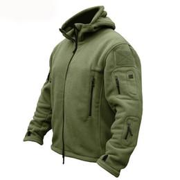 Kış Polar Sıcak Taktik Ceket Erkekler Termal Nefes Kapüşonlu Erkek Ceket Kaban Kabanlar Ordu Yürüyüş Ceketler cheap tactical hooded jacket nereden taktik kapüşonlu ceket tedarikçiler