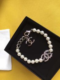 Braccialetti di fascino iniziale online-Monili delle donne dei polsini di polsino di amore del braccialetto di fascino della lettera d'argento iniziale del progettista e