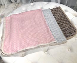 Babys decken stricken online-Herbst Winter 2019 New Born Baby Strickpullover Decke Boy Soft für Kinder Mädchen Infant Decke 3 Farben Tops