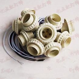 e27 klammer Rabatt E27 Schraubenhalter mit Draht LED-Lampensockel E27 mit Metallhalterung Diy Zubehör für Haushalts-Kronleuchter Kristalllampe