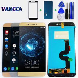 iphone vidrio frontal dorado Rebajas Pantalla Lcd 100% probada para LeTV Leeco Le Max 2 X820 X821 X822 X823 X829 Pantalla táctil digitalizador Sensor Panel Asamblea Herramientas gratuitas