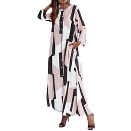 2020 padrões de vestido maxi para as mulheres Mulheres Long Maxi Vestidos Womens Roupa Mulheres Bohemian padrão da cópia do vestido de festa Vestidos 2019 Verão Maxi longas Casual solta Vestidos padrões de vestido maxi para as mulheres barato