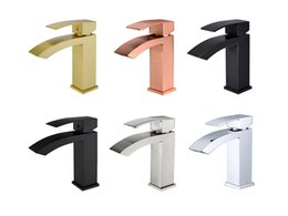Водолазные щетки онлайн-Смеситель для водопада для ванной, матовый черный, 100% латунь, смеситель для раковины с одной ручкой