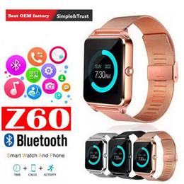 Deutschland Smart Watch Z60 GT08S Uhr mit FM-Sim-Kartensteckplatz Push-Nachricht Bluetooth-Konnektivität Android-Handy Smartwatch Alloy Smartwatch Versorgung