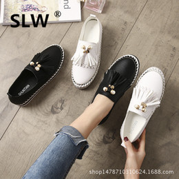 5a55d6932ce Lace-Up Fringe Rubber soulier femme Round Toe shoes woman Flat Platform  women Casual flat spring korean style platform Loafers