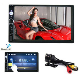 espejo de pantalla táctil bluetooth Rebajas Coche Radio Enlace Espejo Autoradio 2 DIN modelos generales de coches 7 '' pulgadas de pantalla táctil LCD Bluetooth estéreo automático cámara de visión trasera