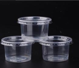 DHL 5oz monouso Jelly Cup Mini plastica rotonda Portion Pudding Tazza trasparente Jello Souffle Jam Tazze con coperchi da usa e getta bento all'ingrosso fornitori