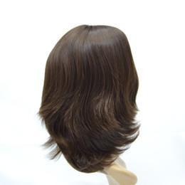 Parrucca kosher europeo online-Disponibile 6 # parrucche europee parrucche Kosher etichetta piccolo strato di seta superiore parrucche ebree capelli morbidi e fini