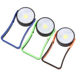 2019 projecteurs utilisés Lampe-outil de réparation en gros avec reconditionnement 360 Tour Lampes de révision de support 3W Bleu Vert Rond Simple Lampe de Secours 7 5qtC1