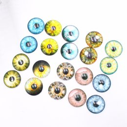 Animal or doll glass eyes12mm 10 pair blue