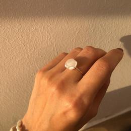 Configuraciones de oro 14k online-Ajustes anillo de la perla de perlas anillo de oro 14K para los anillos de boda joyería muchacha de las mujeres de bricolaje anillo Accesorios de moda regalo de Navidad 1pcs / lot
