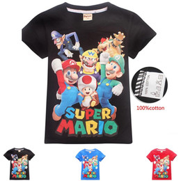 2019 adrette stil kleidung männer DGFSTM Hochwertige Mode-Designer kurze T-Shirt im europäischen Stil Herren Rundhalsausschnitt Super Mario T-Shirt Baumwolle Kurzarm-Kleidung B11 rabatt adrette stil kleidung männer