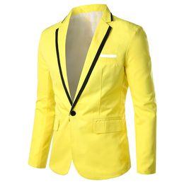 Vestes de soirée hommes occasionnels en Ligne-Feitong hommes blazers et vestes hommes Élégant Décontracté Solide Blazer Affaires Mariage Party Outwear Manteau Costume Tops # g10