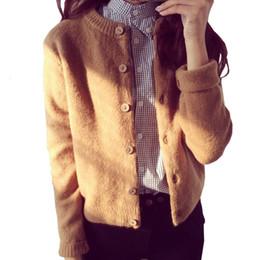 Donne Cardigan lavorato a maglia caldo di inverno di autunno di lana lavorato a maglia cardigan giacca corta Maglia maniche lunghe Donne Knit cappotti