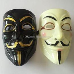 gold jungs Rabatt Großhandelsmaske 100pcs Halloween mit Gold Eyeliner V für Vendetta Schablone Kerl Fawkes Partei-Kostüm-Schablone DHL Fedex geben Verschiffen frei a170-a177