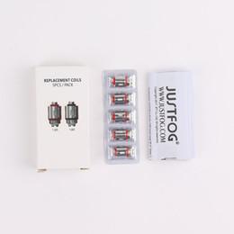 Bon atomiseur en Ligne-Justfog Fog 1 Atomizer Coil Head 1.2 1.6ohm Remplacement Anti-Spit Bobines Pour Brouillard 1 Kits Bonne qualité