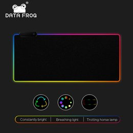 usb mouse pads Coupons - DATA FROG LED RGB Mouse Pad Large Mouse Pad USB Wired Lighting Gaming Mousepad Non-slip 7 Color Options For PC Computer Laptop