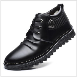 Argentina Botas para hombre Otoño Invierno con cordones Estilo Tobillo Moda Algodón Clásico Zapatos acolchados Felpa Hombre Botas para la nieve 2019 Chaussure Homme Suministro