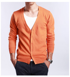 2019 kaschmir mens top mantel Mens Cashmere Sweaters gestrickte beiläufige Strickjacke Slim Short Sweater Tops Coat Chic K78 günstig kaschmir mens top mantel