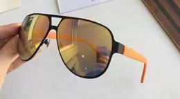 2020 occhiali da sole arancioni sportivi Sport Metal Gomma Occhiali da sole a specchio arancione opaco 2252 Occhiali da sole da uomo, occhiali da sole da sole, nuovi con scatola sconti occhiali da sole arancioni sportivi
