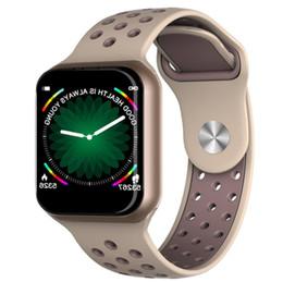 спортивные браслеты спортивные часы Скидка 1.3 дюймовый полный сенсорный экран F8 смарт-часы мониторинг сердечного ритма артериального давления Bluetooth спортивный шаг умный браслет подарок
