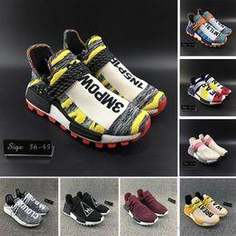 0899afe44 Heart Mind HU TR Human Race Solar Pack Friends And Family Running Shoes  Nerd Green Core Black Pharrell Williams Men Women Sports Sneakers