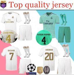 Sport-uniformen online-neue Top-Qualität 19 20 Real Madrid Trikots Trikots 2019 2020 nach Hause MODRIC ASENSIO VINICIUS JR BALE Sport Fußball Trikot Trikots Uniform