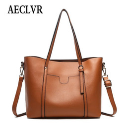 AECLVR Solid Color PU Leather Casual Totes For Female Soft High-Capacity Shoulder  Bags For Women Ladies Simple All-Match Handbag 5ed8bb6502d3a