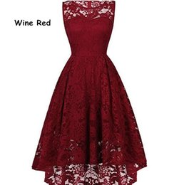 Canada 11 couleurs femmes formelles robe sans manches sexy courte devant long dos noir blanc rouge bleu gris robes de dentelle élégantes cheap elegant grey short dress Offre