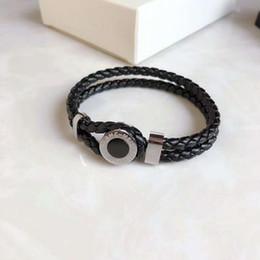 Lederarmbänder europäischer amerikanischer mode online-Europäischen und amerikanischen Modeschmuck Leder Weave Armband für Frauen Männer