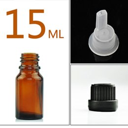 Стеклянные бутылки для эфирных масел 15 мл многоразового использования пустой Янтарный бутылка с отверстием редуктора капельницы и крышки DIY принадлежности инструмент аксессуары от Поставщики бутылочная стеклянная крышка-капельница