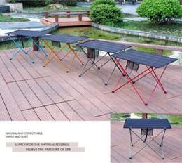 2020 складные столы для пикника Портативный складной стол Кемпинг Открытый Мебель Компьютерные столы Кровати для пикника из алюминиевого сплава Ultra Light Складной стол дешево складные столы для пикника