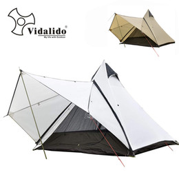 2019 pali di tenda Vidalido grado superiore di lusso yurta tenda / Grande palo di alluminio multiplayer di campeggio esterna a doppio strato tenda a cupola pali di tenda economici