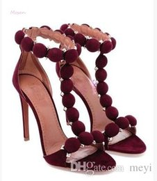 Ботинки платья ботинок лодыжки онлайн-Открытый Носок Лето Стилет Лодыжки Wrap Сандалии Обувь Спайк Шпильки Кожа Замша Ремешками На Каблуках Сандалии Платье Партии Высокие Каблуки Насосы