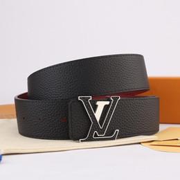 Designer Gürtel lnitiales doppelseitigen Gürtel Brief Schnalle gedruckt Kalbsleder Herren Designer Gürtel 2019 Luxus Mode Luxusprodukte Herren von Fabrikanten