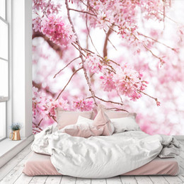 mural de flores de pêssego Desconto [Auto-adesivo] 3D Peach Blossom 5838380 Mural de papel de parede Murais de parede decalque