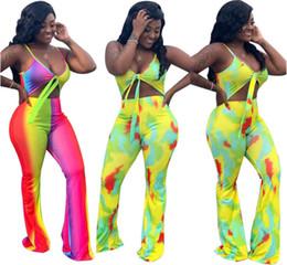 Mulheres Designer Cor Jumpsuits Bra Bootcut Calça Sexy Strap One Piece Macacão Bodycon Queda Plus Size Roupas S-2XL 1206 de