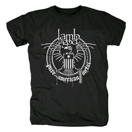 Camicia di agnello online-Bloodhoof LAMB OF GOD T-Shirt in cotone nero groovemetal nero Grindcore Asian Taglia