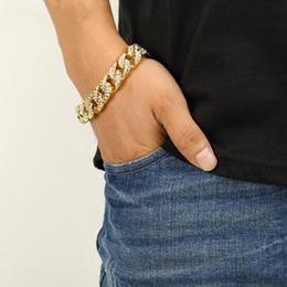 hip-hop-schmuck europa Rabatt Sonderangebot! Europa und die Vereinigten Staaten voller Diamanten Hip-Hop-haha tide Schmuck Armband Armband 18K nicht verblassende Plattierung Armband