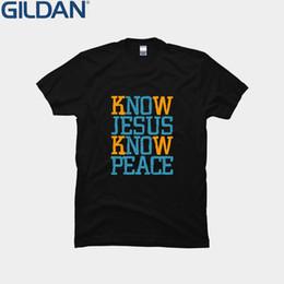 2019 camiseta de jesús Letra Jesus Know Peace Cool Christian Tshirt Edificio loco T Shirt Hombre Funky normal Camiseta Para Hombres Unisex Hip Hop camiseta de jesús baratos