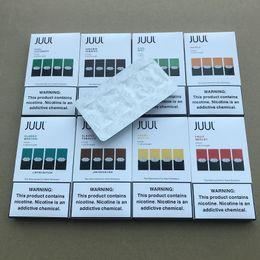 Cig packs on-line-Manga JUU V2 V3 Pods Cartucho pods com óleo 4 peças Um pacote para e cig starter kit Coco fumar JUU Vape Pen