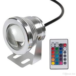Iluminação da piscina rgb on-line-Luz subaquática conduzida RGB 10W 12V conduziu a luz subaquática 16 cores 1000LM Iluminação impermeável da lâmpada da associação da fonte IP68