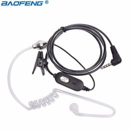 Auriculares jamon ptt online-walkie talkie Baofeng -1 acústico del tubo PTT Mic Auricular Auricular para Baofeng BF T1 BF-T8 UV-3R + Mini equipo de radio BFT1 Walkie Talkie