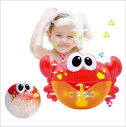 pala de plástico de playa Rebajas Nueva llegada Bubble Crabs Baby Bath Toy Funny Bath Bubble Maker Piscina Piscina Bañera Máquina de jabón Juguetes para niños Niños