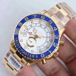 Sıcak Satış Otomatik Mekanik paslanmaz çelik 18 K Altın safir 116688-78218 bilezik Mavi Mat siyah seramik Yatch ii erkek Wristwat cheap 18k sapphire bracelet nereden 18k pırlantalı bilezik tedarikçiler