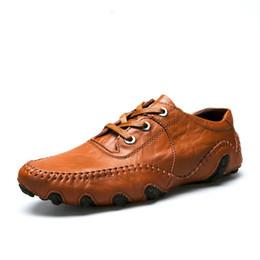 QWEDF Designer Hommes Mocassins En Cuir Véritable Chaussures Taille 38-44 Style Élégant Homme Marque Fashion Oxfords Noir Marron Couleurs DP-97 # 195018 ? partir de fabricateur