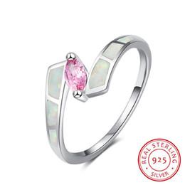 Cz 925 anillo de porcelana online-genuina plata de ley 925 CZ de las mujeres bodas recuerdos regalos grandes de piedras preciosas de la joyería del anillo liso bajos precios al por mayor mercado de joyas de China
